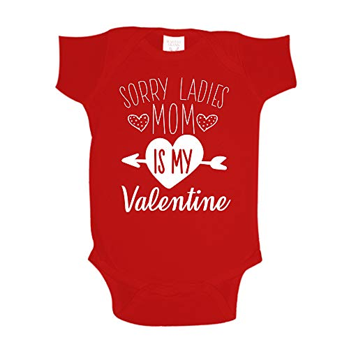 Sorry Ladies Mom Is My Valentine Baby One Piece 6 mo Red
