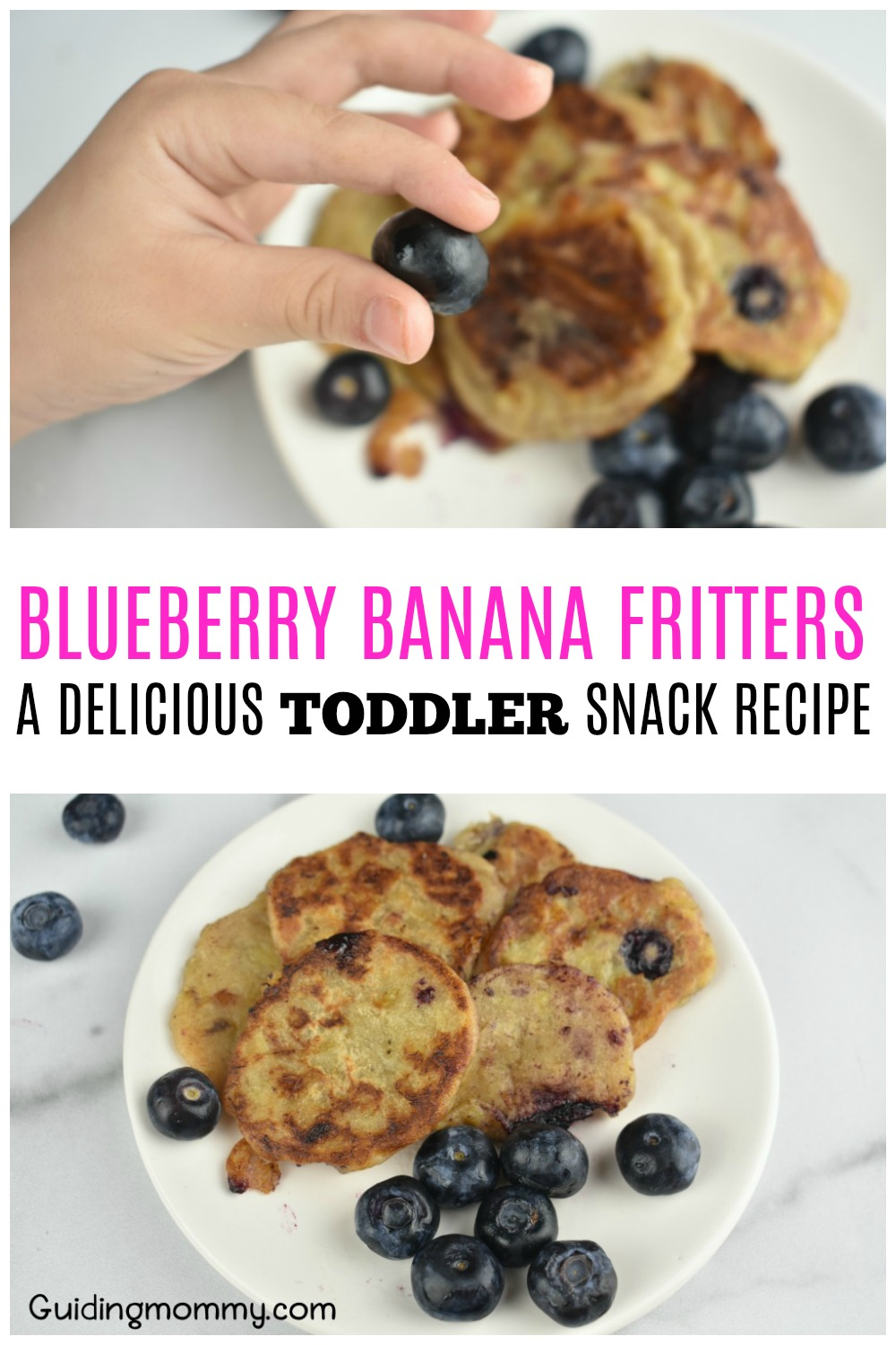 Blueberry Banana Fritters - A delicious toddler snack recipe