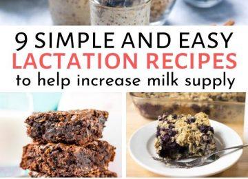 milk increasing lactation recipes